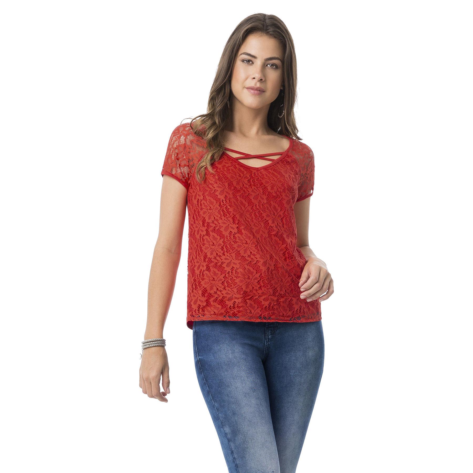 cece802153 latest blusa renda com tiras decote vermelho tease with modelos de blusa.