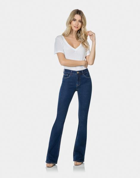 03d28290ddeba Calça Flare Bootcut Malibu Elastic Jeans