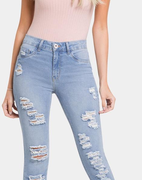 faa03514c7 Calça Jeans Jeans Claro