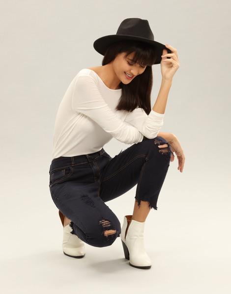 70111a2f0 Calça Jeans Skinny Cropped Belize Marinho Action