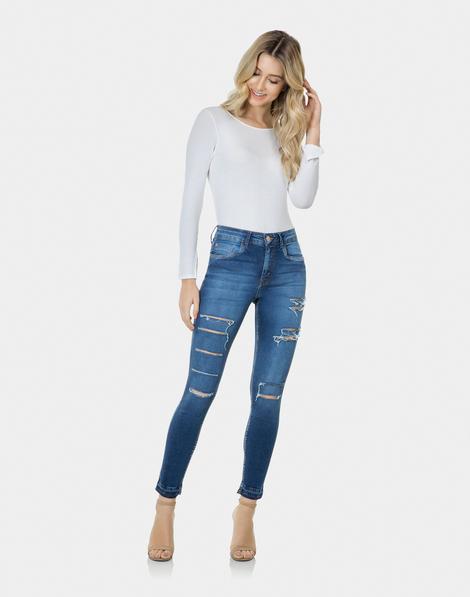37fd4317f0 Calça Skinny Cropped Bali Elastic Jeans