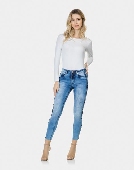 8d3c9f139 Calça Skinny Cropped Bali Elastic Jeans