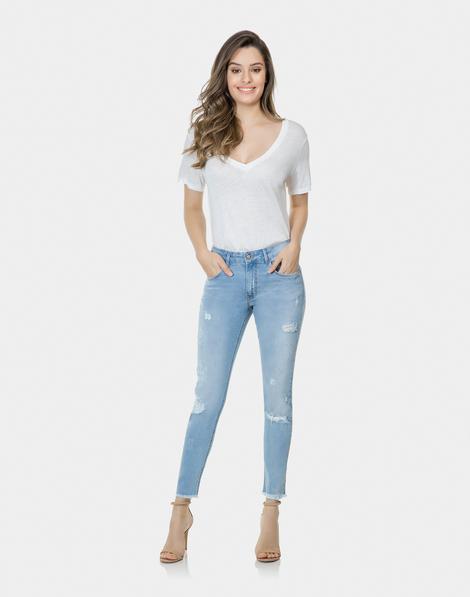 b38a0258e Calça Skinny Cropped Riviera Elastic Jeans