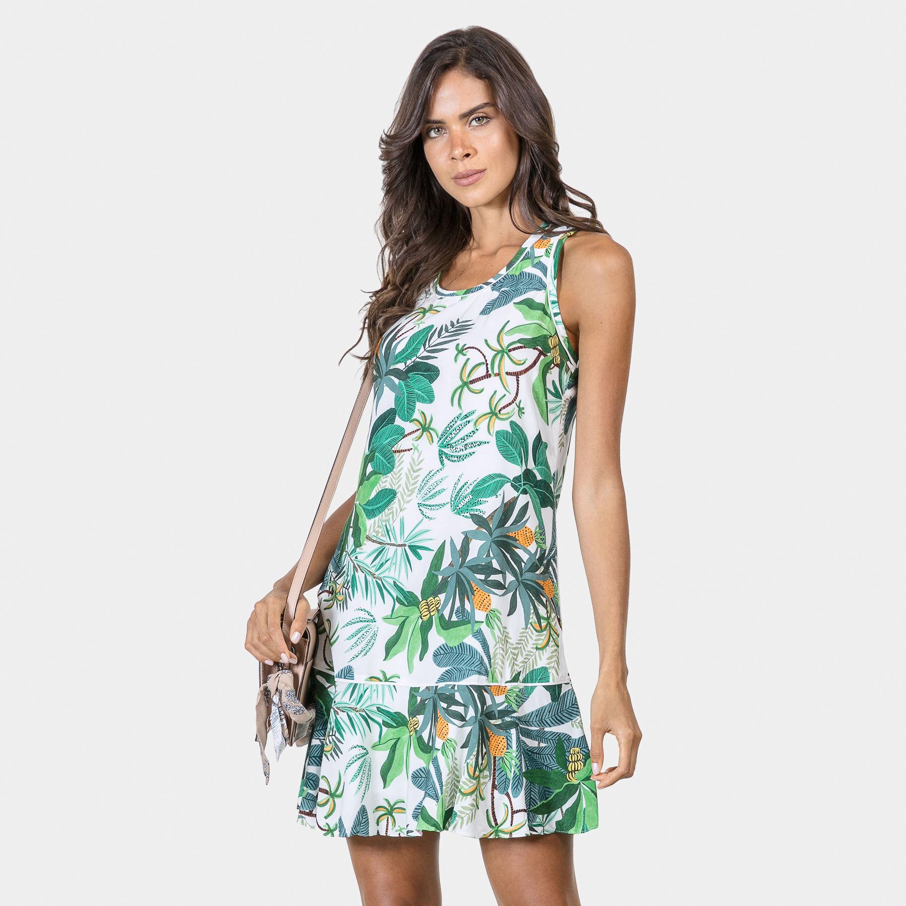 4200e1e1bb Vestido Estampado em Tecido Ananas - Lez a Lez