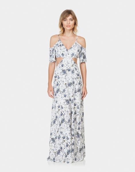 cbfce878f539 Vestido Longo Estampado Tecido Fleur Ancienne