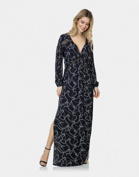 Vestido longo de tecido barato